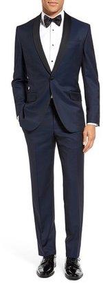 Men's Ted Baker London 'Josh' Trim Fit Navy Shawl Lapel Tuxedo $1,095 thestylecure.com