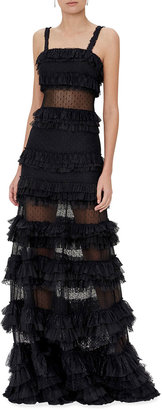 Alexis Amaryllis Tiered Lace Cocktail Dress