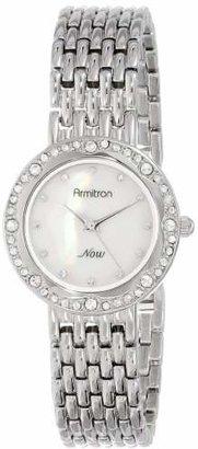 Armitron Women's 75/5190MPSV Swarovski Crystal Accented Silver-Tone Bracelet Watch $48.75 thestylecure.com