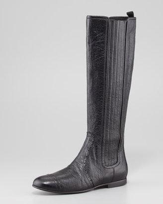 Balenciaga Arena Stretch Leather Knee Boot