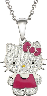 Hello Kitty FINE JEWELRY Girls Crystal Stainless Steel Pendant Necklace