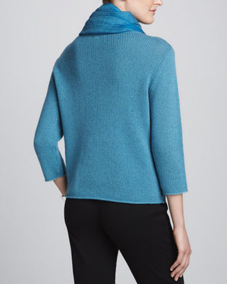 Eileen Fisher Cross-Dyed Silk/Cashmere Wrap