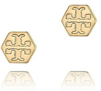 Tory Burch Hexagon Logo Stud