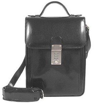 L.a.p.a. Black Leather Vertical Briefcase