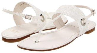 Stuart Weitzman Bimini (White Laniard) - Footwear