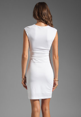 Alexander Wang Pique Mesh Sleeveless Dress