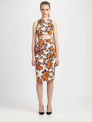 Suno Silk Open-Front Dress