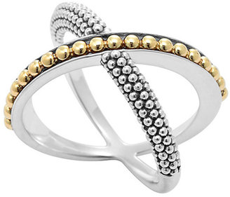 Lagos Sterling Silver & 18k Infinity Crossover Ring