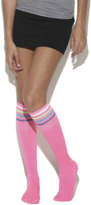 Wet Seal 2 Pack Rainbow Stripe Sock