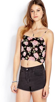 Forever 21 Romantic Rose Woven Cami