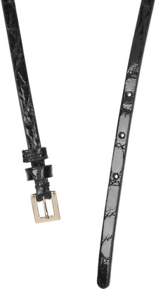 Valentino Glossed-leather and chain belt