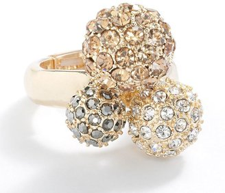 Apt. 9 gold tone simulated crystal and stud ball stretch ring