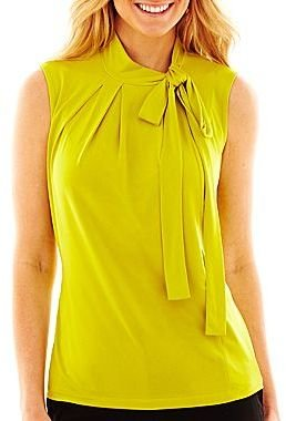 JCPenney Worthington® Bow-Neck Top