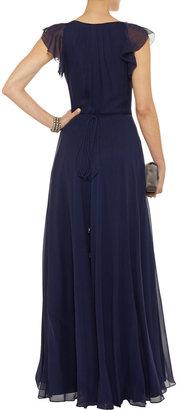 Diane von Furstenberg Delancey silk-chiffon wrap dress