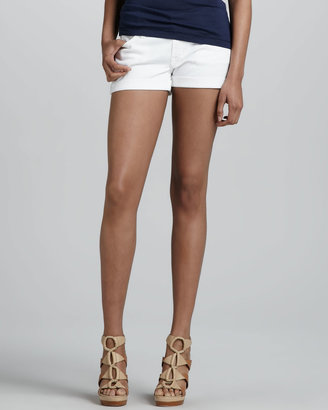 7 For All Mankind Roll-Up Jean Shorts, White