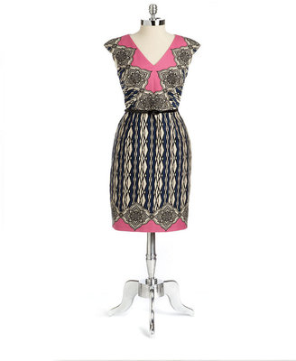 dav DAVID MEISTER Sleeveless Printed Dress