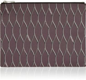 Kenzo Mesh-print coated nylon pouch