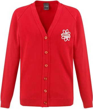 AG Jeans Unbranded East London Science School Girls' V-Neck Cardigan, Red