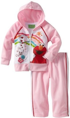 Sesame Street Baby-girls Infant 2 Piece Knit Hoodie and Pant