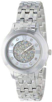 Armitron Women's 75/5174MPSV Swarovski Crystal Accented Silver-Tone Bracelet Watch $75 thestylecure.com