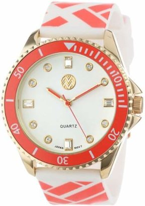 Macbeth Women's MBW023G-OR Pop Color Fashion Rubber Band Watch
