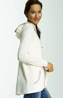 J. Jill Embroidered hooded jacket