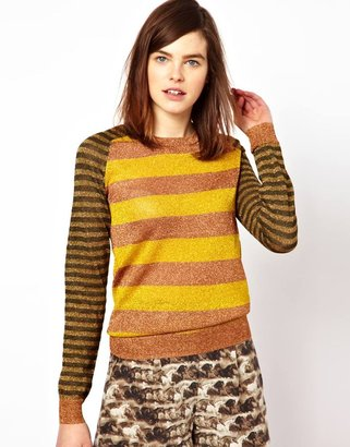 Emma Cook Lurex Stripe Sweater