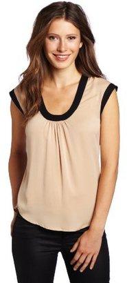 Catherine Malandrino Women's Sleeveless Scoop Neck Top