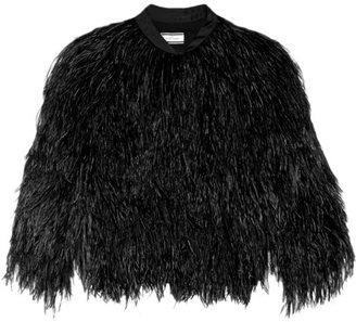 By Malene Birger Irlaisa feather and satin jacket