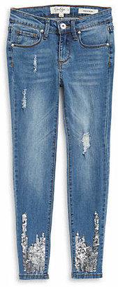 Jessica Simpson Intergalactic Kiss Me Sequin Jeans