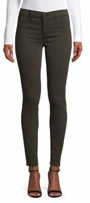 J Brand Mid-Rise Super Skinny Jeans