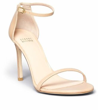 Stuart Weitzman Nudistsong High Heel Patent Ankle Strap Sandals $398 thestylecure.com