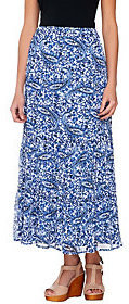 Liz Claiborne New York Pull-On Tiered Printed Maxi Skirt $16.49 thestylecure.com