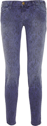 Current/Elliott The Ankle printed low-rise skinny jeans