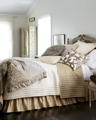 """Horchow Lili Alessandra Champagne/Silver """"Jackie"""" Bed Linens"""