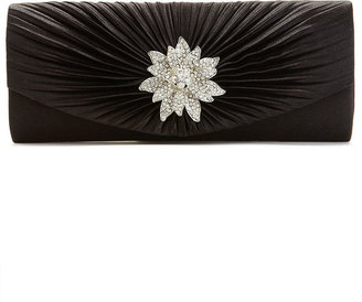 La Regale Lenore by Satin Evening Clutch with Jewel