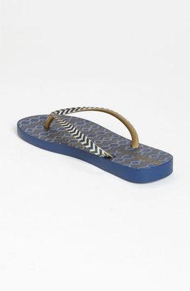 Ipanema 'Trends III' Flip Flop Blue/ Gold 5 M