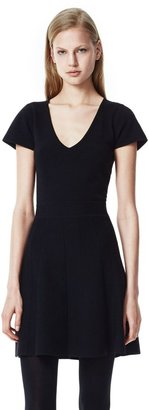 Evian Anderz Dress in Stretch Wool Blend