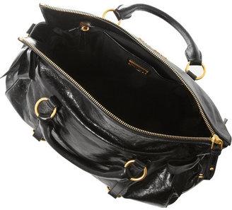 Miu Miu Textured glazed-leather tote