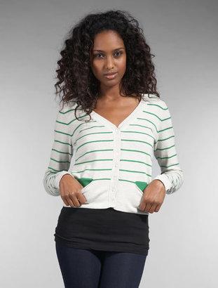 Autumn Cashmere Striped V Cardigan