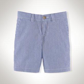 Cotton Seersucker Short