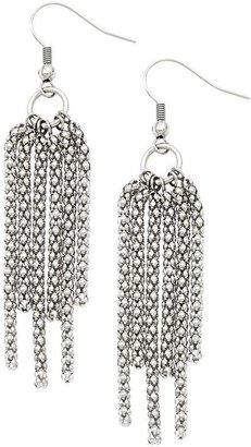 Steel By Design Stainless Steel Multi-Strand Dangle Earrings