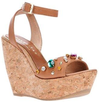 Paloma Barceló Palomitas By embellished wedge sandal
