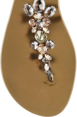 Giuseppe Zanotti Swarovski crystal-embellished mirrored-leather sandals