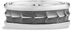David Yurman Silver Armory Band Ring