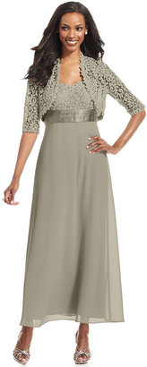 Roland Mouret R&M Richards Dress and Jacket, Sleeveless Lace Empire-Waist Gown
