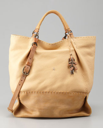 Henry Beguelin Stitched Double-Handle Tote Bag, Raffia