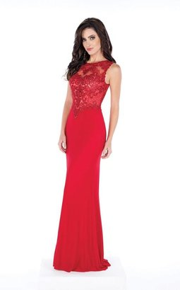 Mon Cheri -Embellished Bateau Neck Dress MCE21625