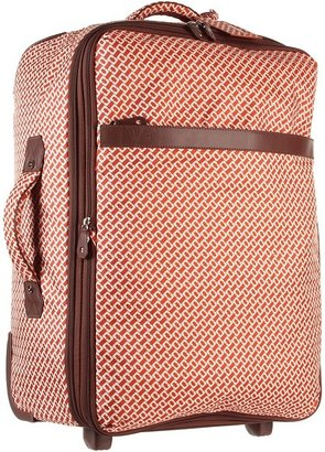 Diane von Furstenberg On the Go Collection - 24 Upright With Garment Bag (Orange) - Bags and Luggage