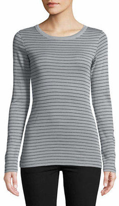 Vince Striped Long-Sleeve Cotton Tee
